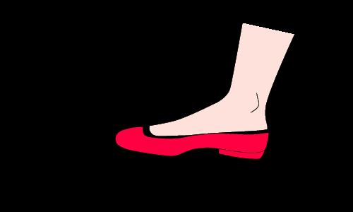 フットカバー脱げる図解1