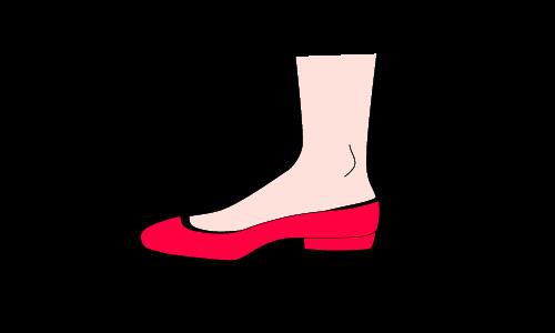フットカバー脱げる図解2