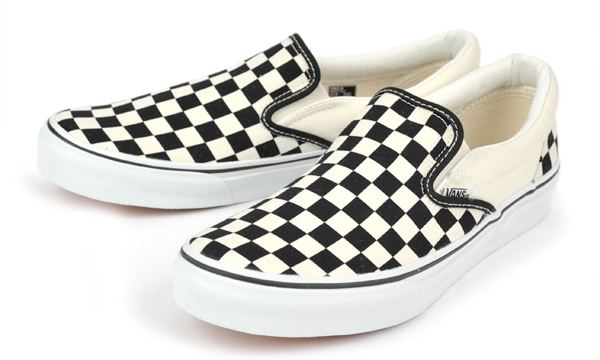 SLIP-ON BLACK/WHT/CHK