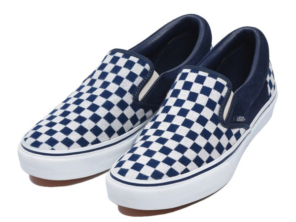 SLIP-ON INDIGO 17FA NVY/WHT CHECK