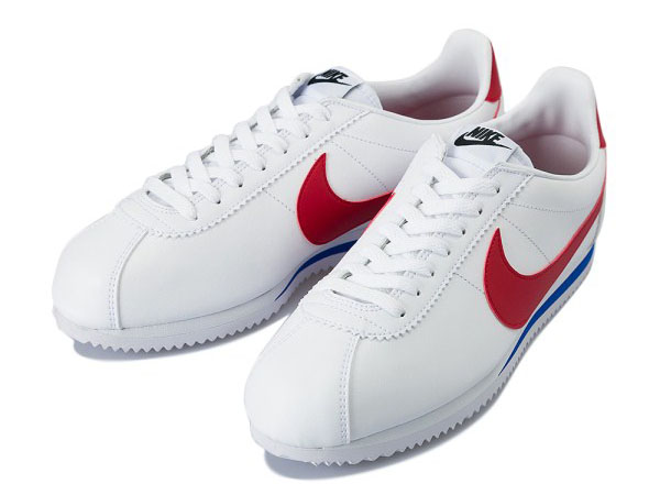 NIKE CLASSIC CORTEZ LEATHER 103WT/VRED