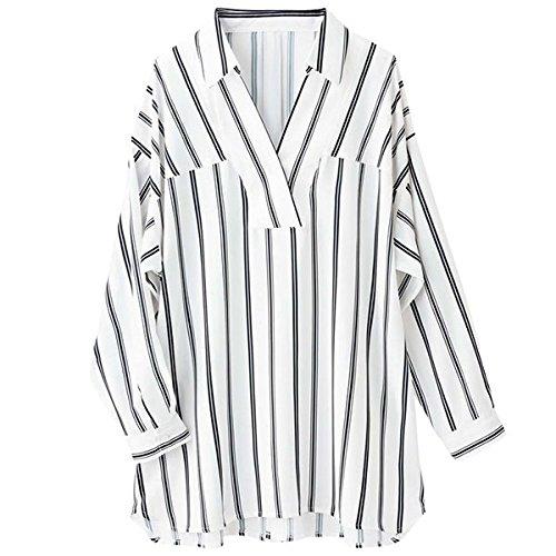 RyuRyu 洗える衿抜きシャツチュニック