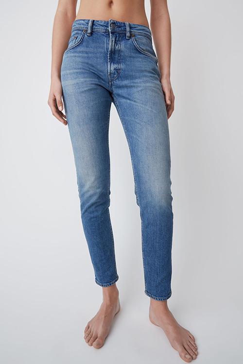 Acne Studios High waisted jeans mid blue