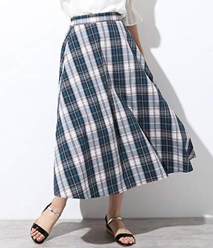 ViS チェック柄ロングスカート