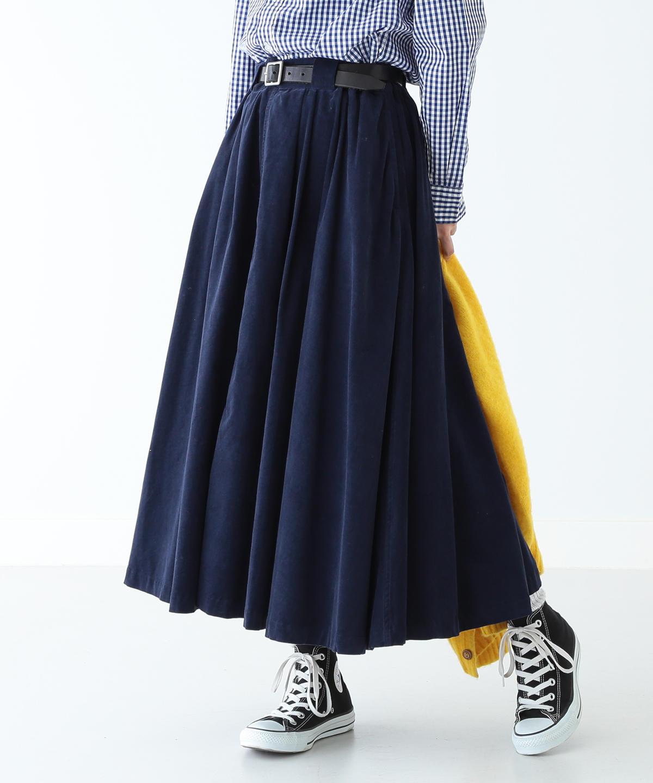 BEAMS BOY / コーデュロイフレアマキシスカート