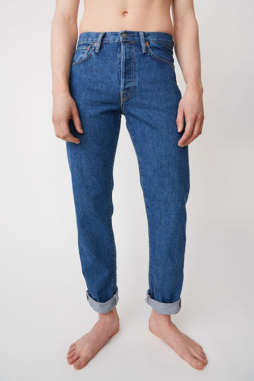 Acne Studios Straight fit jeans dark blue