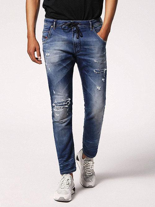 DIESEL デニムパンツ ジョグジーンズ KROOLEY CB-NE Sweat jeans