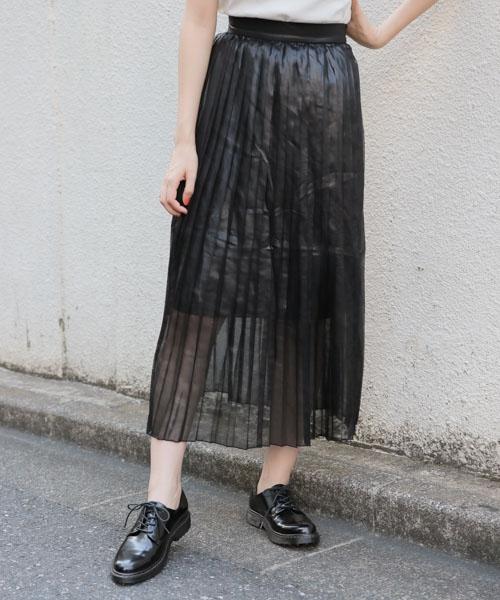 PAGEBOY シャイニーシアープリーツスカート