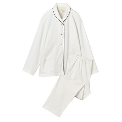 無印良品 脇に縫い目のないソフトスムースパジャマ オフ白