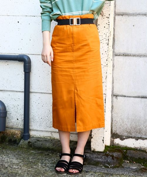 LOWRYS FARM オックスカラータイトスカート