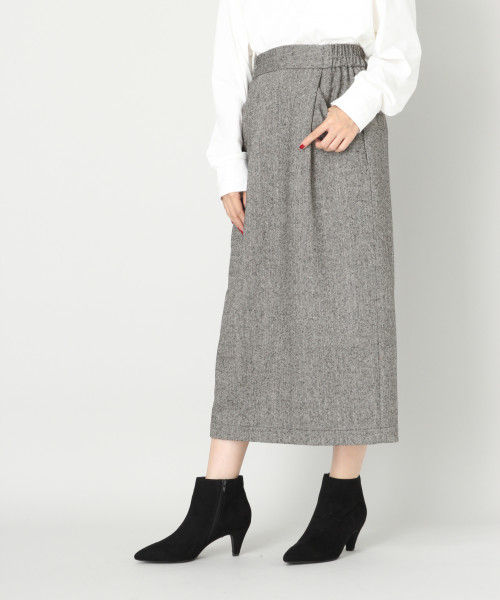 LOWRYS FARM ウールコンタイトスカート