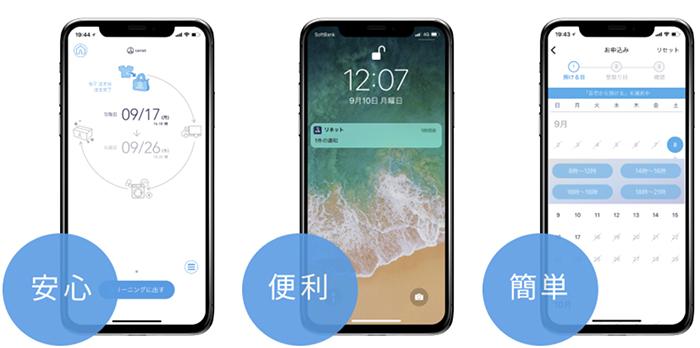 リネットのiPhone/androidアプリの説明