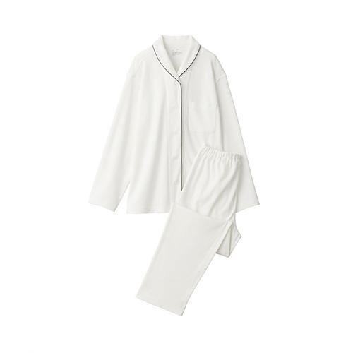 無印良品 脇に縫い目のない スムース編みパジャマ