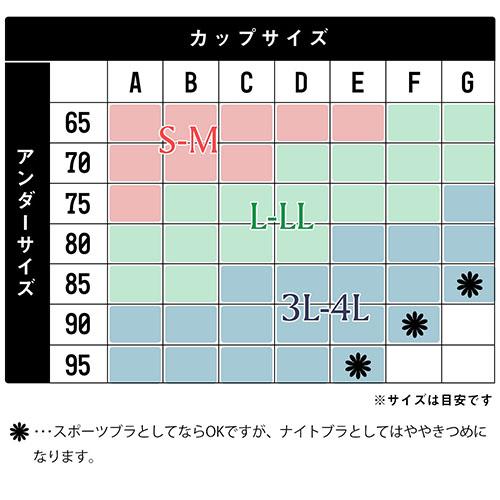 ラクブラ24 サイズ表