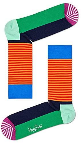 Happy Socks HALF STRIPE クルー丈ソックス