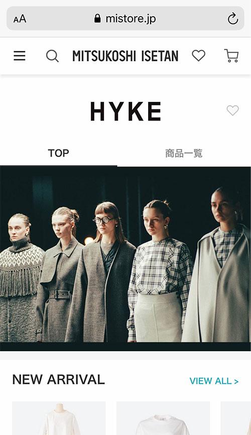 三越伊勢丹オンラインストア HYKE