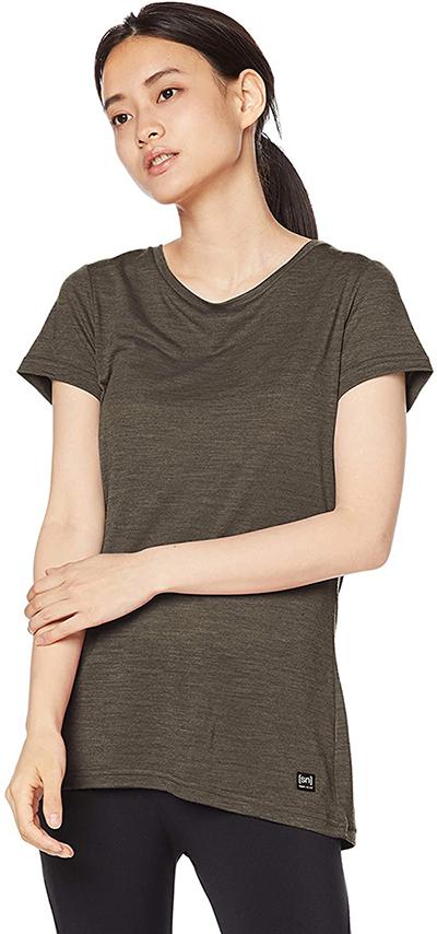 super.natural ヨガ メリノウール Tシャツ