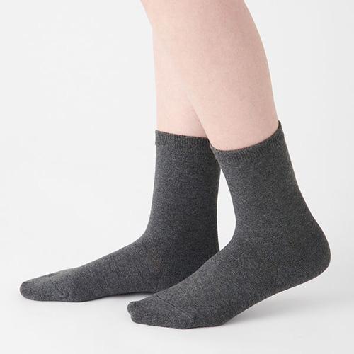 無印良品 足なり直角 口ゴムなし 三層 靴下