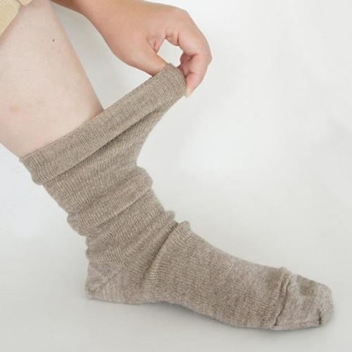 アルパカのゴムなししめつけない靴下