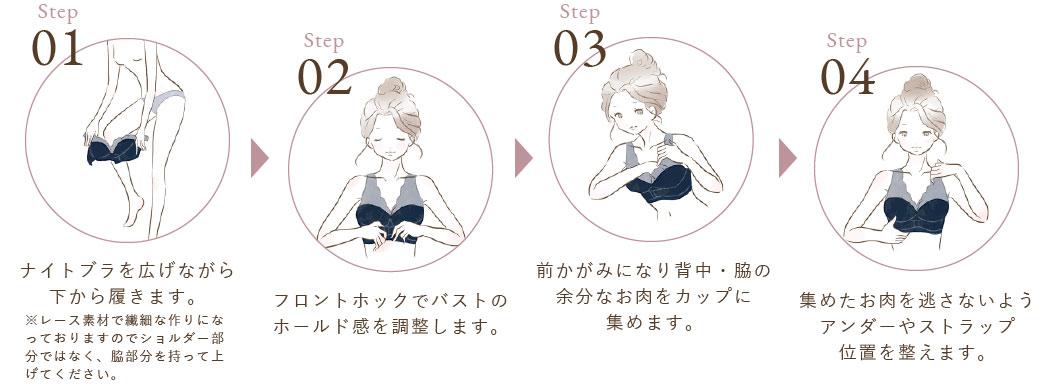 ルルクシェル くつろぎ育乳ブラ How to Use