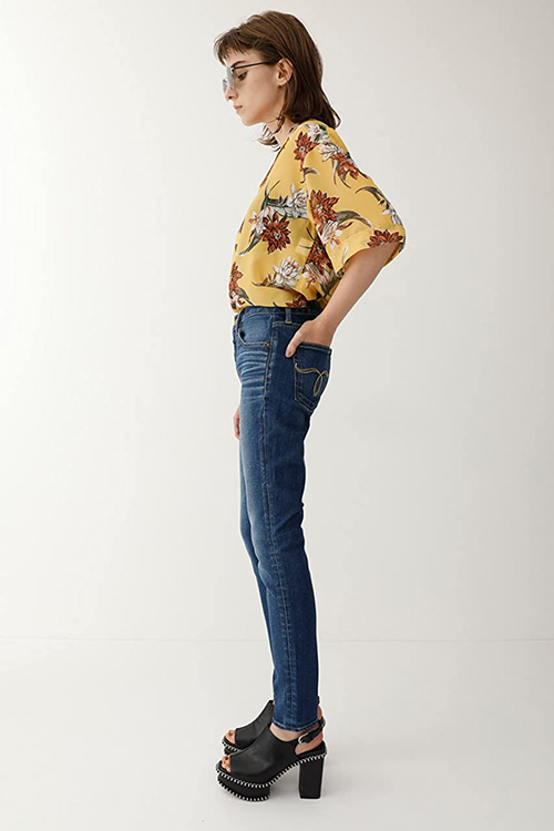 moussy WF Rebirth embroidery SKINNY ジーンズ
