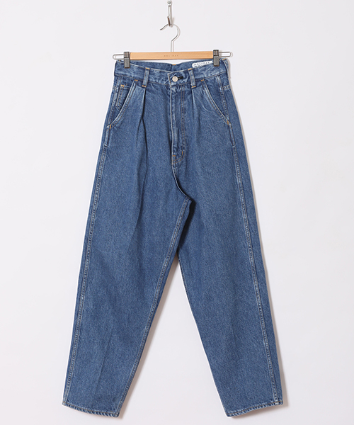 HOLIDAY TUCK DENIM PANTS(CROPPED)