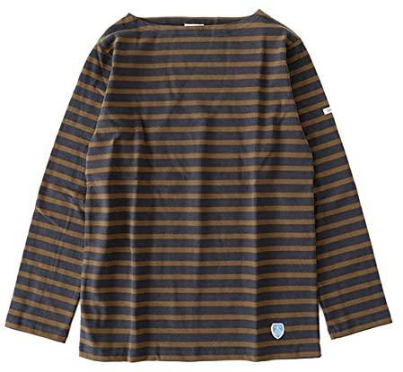 ORCIVAL コットンロード ボーダー フレンチバスクシャツ