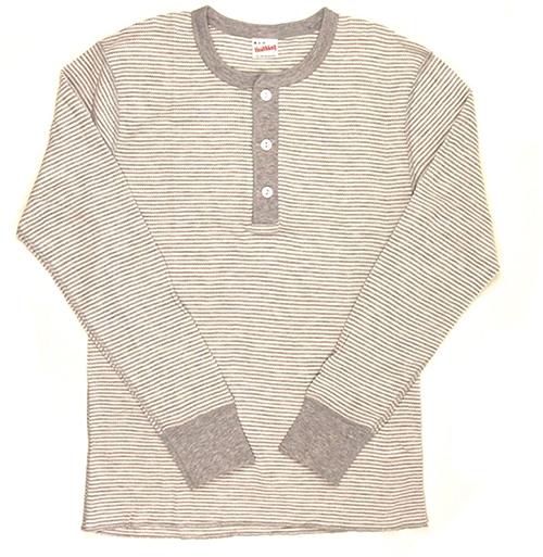 Healthknit ロングスリーブ サーマル ヘンリーネック Tシャツ