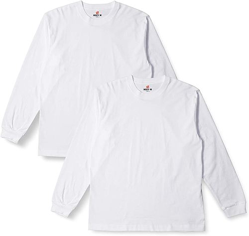 Hanes BEEFY-T ロングスリーブTシャツ 2枚組
