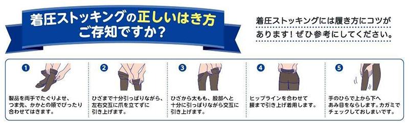 メディキュット 着圧ストッキングの履き方