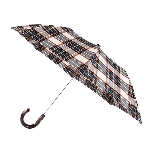 MAGLIA FRANCESCO Folding Umbrella with Vanished Chestnut Handle
